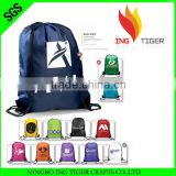 2016 Hot Sales Promotion Recycled OEM Manufacturer For Sport Nylon Drawstring Beach Towel Backpack