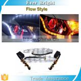 Dual color White Amber Switchback LED Strip Sequential drl Waving Turn Signal Lights DRL Sequential Led Light
