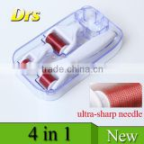 DRS top selling titanium alloy 4 in 1 derma roller 300+720+1200 pins roller head with CE approved