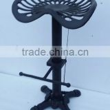 Metal turning chair