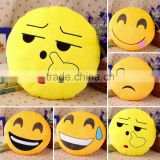 Soft Emoji Smiley Emoticon Yellow Round Cushion Pillow Stuffed Plush Toy Doll Christmas Present New