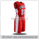 custom buy red basketball jersey online printed red color