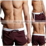 Men's Low Rise Sexy Swimwear Trunks Boxer Brief Swimsuit Front Tie