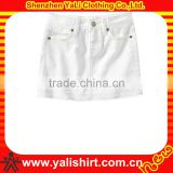Custom fashion comfortable white blank cotton wearing skirts children's clothing factory in china