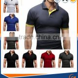 Color Combination mens polo shirt Custom Men Golf polo shirt Wholesale Blank Plain Mens 100% cotton polo shirts Design