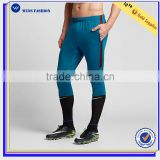 Latest design dri-fit stretch 100%polyester soccer pants mens gym wear wholesale