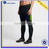 2017Flex side zip pockets polyester/spandex soccer pants gym legging gym wear men