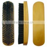 100% pig hair shoe brush for leather care