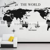DIY Home Decor The Map Of The World Mural Decals Removable Wall Stickers