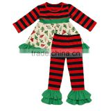 Baby girls holiday clothes ! Sue Lucky wholesale girls Christmas boutique outfit accept small MOQ