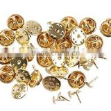 25pcs Metal Pin Gold Backs-butterfly Clutch Pin Backs with Nails Included (Butterfly Clutch Pin Backs with Nails