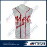 Sublimated sleeveless camo softball jersey customize
