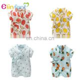 Wholesale smocked children clothing ruffle baby girls clothes summer romper baby clothes set