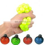 colorfull Bead Stress Ball Rubber Vent Grape Ball Hand Wrist Toy Mesh Squishy Ball