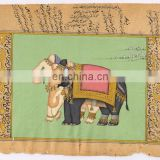 Royal Elephant Painting Ethnic Hand Painted Wall Decor Indian Miniature Painting