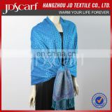 China manufacturer spring winter new design blue cashmere scarf