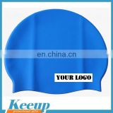 Fashionable cheap round colorfull soft logo imprimted water polo swimming cap