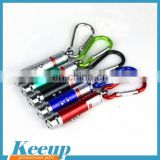 Mini red laser pointer keyring/LED flashlight with cheapest price