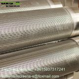 Sand control stainless steel Johnson v wire wedge wire screen pipe for water well drilling