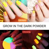 ShiningLife brand new invention acrylic nail liquid glow in dark dipping powder dip powder private label