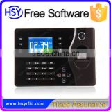 TCP/IP Wired LAN port Employee Attendance Tracking Machine support fingerprint and password