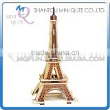 Mini Qute 3D Wooden Puzzle Eiffel Tower world architecture famous building Adult kids model educational toys gift NO.MJ201