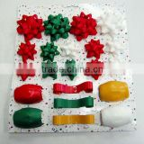 Popular Selling !Satin Ribbon Star Bow+Ribbon Egg+Ribbon SPOOL Sets for holiday stage/window decoration
