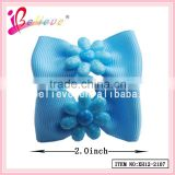 Environmental material flower ribbon bow knekki hair elastic band headwear (XH12-2107)