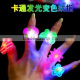 Chilren popular led flashing ring festival&party supplies led ring lovely TPR/Plastic Resin material