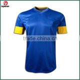 Custom new fashion dye sublimation brazil away soccer jersey