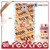 English letters mobile phone back covers TPU water transfer printing phone cases for HTC one M8