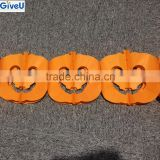 2016 Popular 3Meter Long Orange Color Halloween Decoration Hanging Pumpkin Paper Garland For Party Wall Decoration