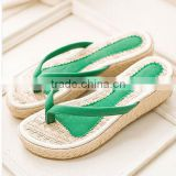 shoes supplier fashion girls wedge heel slipper shoes wedge flip flop slipper made in China