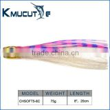 Wholesale OEM Manufacturer fishing gear octopus skirts 8 inch,12inch resin head marlin luretrolling lure marlin lure
