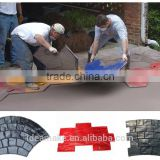 Stamping Rubber Pavement Mold paving block mold concrete pavement mould