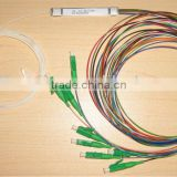 1*8 1260-1650nm Steel mini module type,0.9mm cable dia. 1.5m length,with SC/APC connector FTTH PLC Splitter