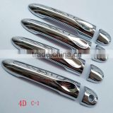 Free Shipping auto accessories 4pcs chrome catch cap Trim Door handle cover For Renault MEGANE 2010 2012 2014