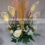 2017 New Garden Decor Lamp Wholesale Price artificial Big size fiber optic Calla Lily Flower Pot