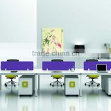 Foshan city modern office furniture manufacturers for 6 person office workstationion with cabinet