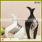 2016 modern home decor china chouzhou decorative silver ceramic vase set for gifts                                                                         Quality Choice
