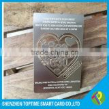 Hot sell Stainless steel metal wedding invitation card