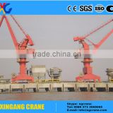 Marine equipment offshore ship portal crane with pedestal
