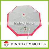"19"" beauty printing pink umbrella for kids online shop"