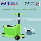 Wholesale new assembly kids 3 in 1 scooter with removed seat &container for best toy