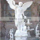 Bronze Angel Statue Marble Stone Hand Sculpture Carving For Home, Church