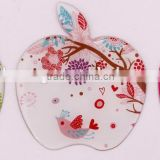 2015 hot sales apple shape stainless steel compact mirror,MD702