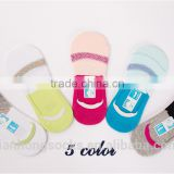 Colorful adult women girls invisible anti slip shoe liner socks