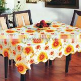 pvc non-woven flower design sequin tablecloths, latest design printing sequin tablecloths