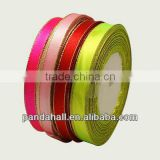 Party Christmas Decoration Wide Satin Ribbon(SRIB-D001-25mm-M2)