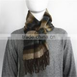 Multicolor Yarn Dyed 100% Wool Scarf with tassel